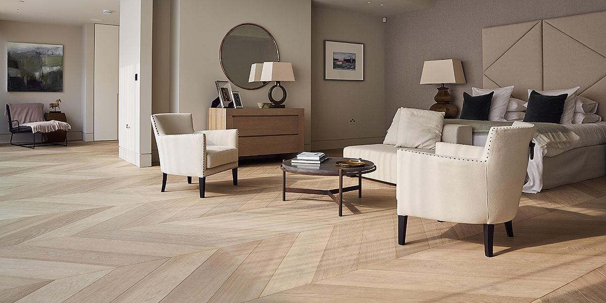 Ebony and Co Project - Continental Oak - Wide Chevron - Handcrafted Hardwood Floors