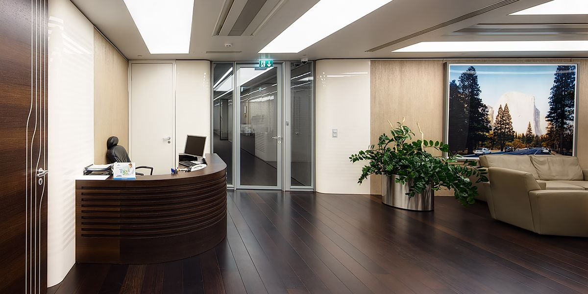 Ebony and Co project Novotek head office Moscow Wenge floor